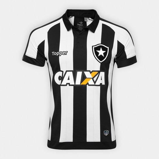Camisa Botafogo I 17 18 C  Patrocínio s n° - Torcedor Topper ... a4f359da945