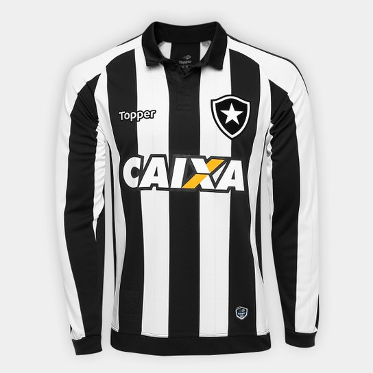 a9cd1b44725fc Camisa Botafogo I 17 18 s n° - Torcedor Topper Masculina - Compre ...