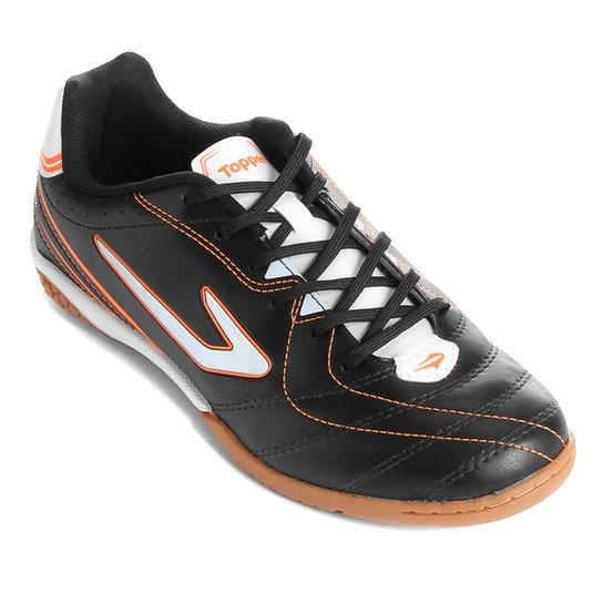 5091fddb963 Chuteira Futsal Topper Titanium 6 - Preto e Branco - Compre Agora ...