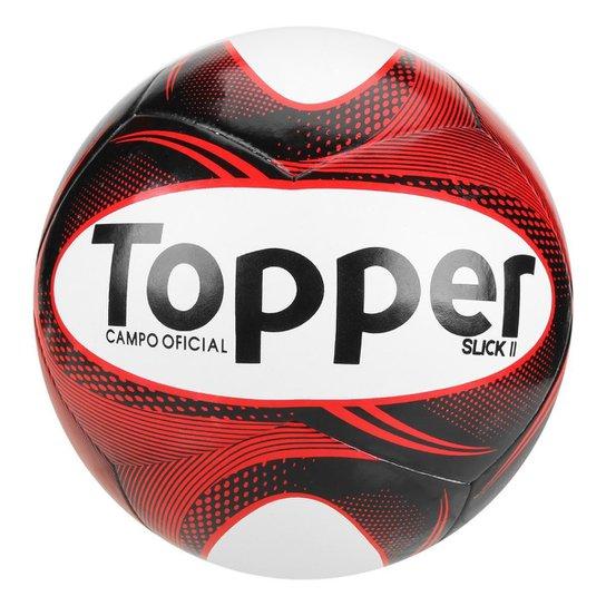 Bola Futebol Campo Topper Slick II - Preto e Branco - Compre Agora ... b6987c5923002