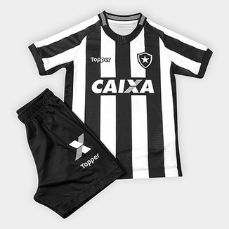 38a5a0c614 Kit Botafogo Infantil I 2018 s n° Torcedor Topper