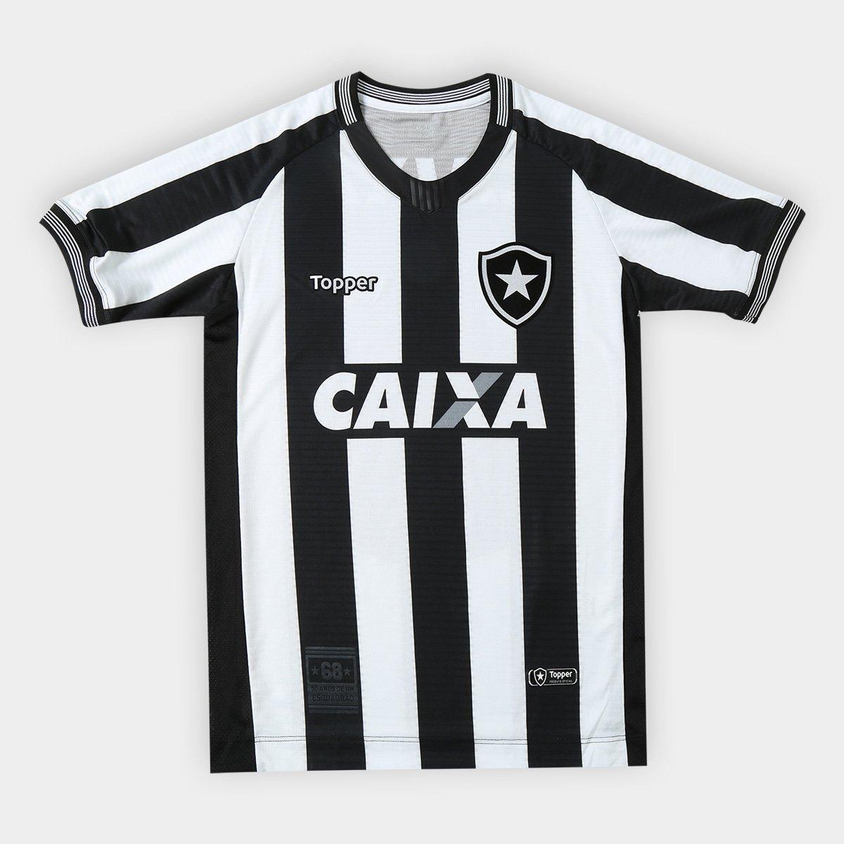 Camisa Botafogo I 2018 s n° Torcedor Topper Infantil f17cba6f8db43