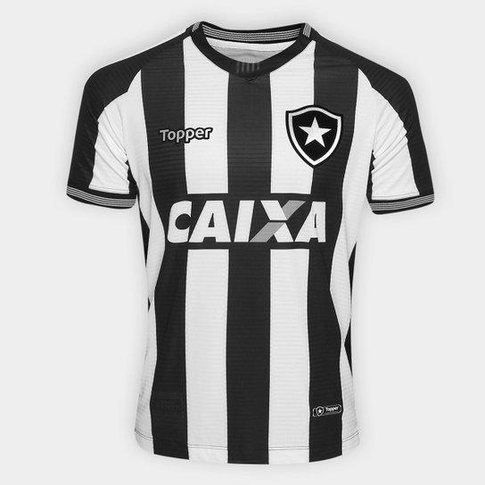Camisa Botafogo I 2018 s n° Torcedor Topper Masculina - Preto+Branco adbdbba7ef9ef