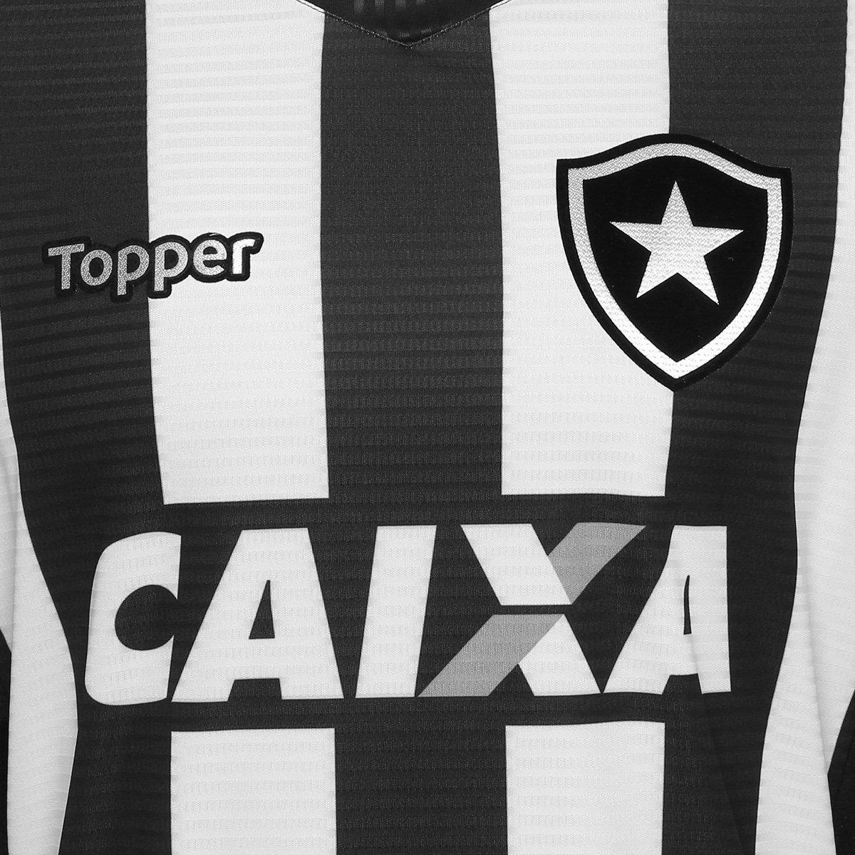 Camisa Botafogo I 2018 s n° Torcedor Topper Masculina  f0c0c55875cc9