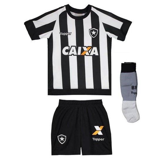4e2cb28175a14 Kit Topper Botafogo 17 18 Infantil - Preto e Branco - Compre Agora ...
