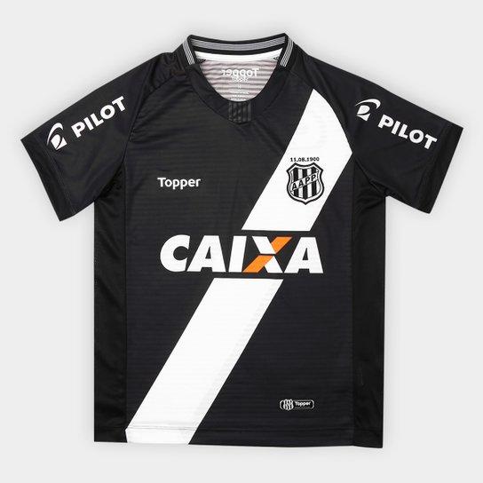 ... Camisa Ponte Preta Infantil II 2018 s n° - Torcedor Topper - Preto e .  ... 7b530fc37a546