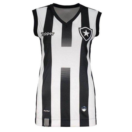 27f61d3852605 Regata Topper Botafogo 1 Vôlei 2017 Feminina - Preto e Branco ...