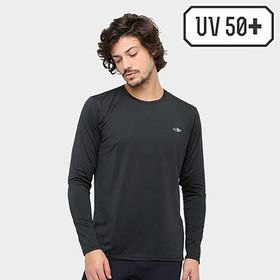 Camiseta Mormaii Manga Longa Mescla Masculino UV Dry Flex - Cinza ... 6bd32a76134