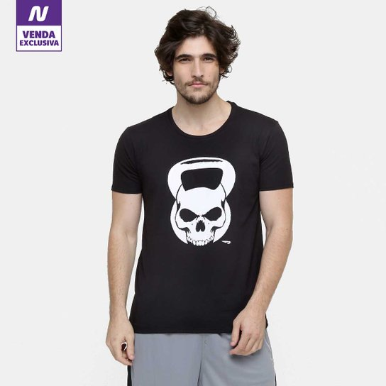 d92f1904a Camiseta Rainha Treino Caveira Masculina - Preto+Branco