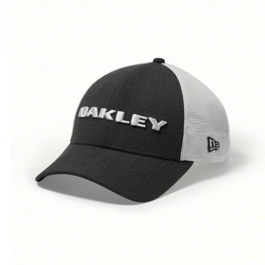 Boné Oakley Heather New Era - Cinza e Branco d9d9b1d73f6