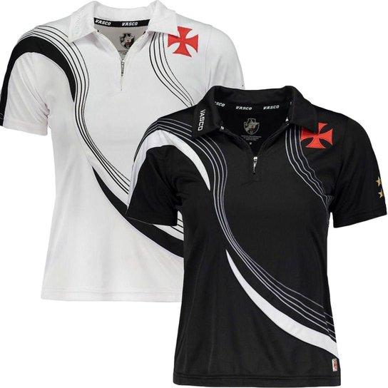 434ca716d Kit 2 Camisas Polo Vasco da Gama Femininas - Preto e Branco - Compre ...