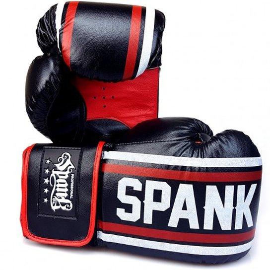 acd6597d9 Luva de Boxe Pro Sparring Spank - 14oz - Preto e Branco