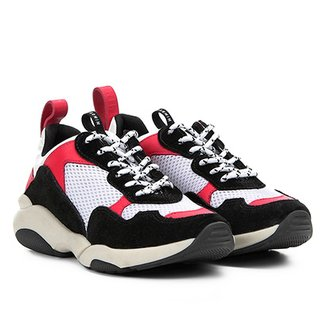 Tênis Chunky Carmim Dad Shoes Maya Feminino 6d1da7d80ce91