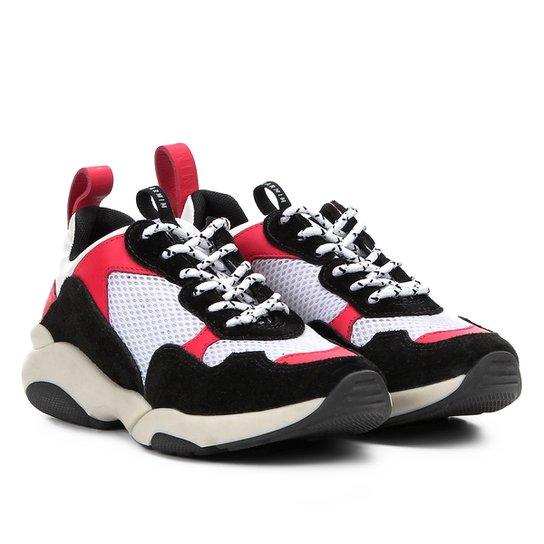 449d5c9ab4 Tênis Chunky Carmim Dad Shoes Maya Feminino - Preto e Branco ...