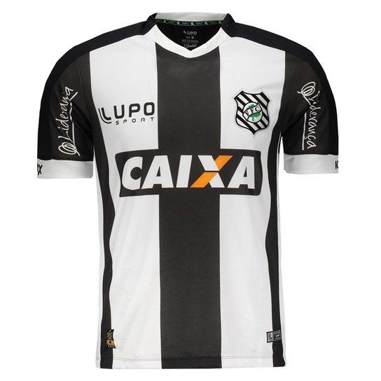 0a8c0417ec Camisa Lupo Figueirense I 2016 N° 10 Masculina - Preto+Branco