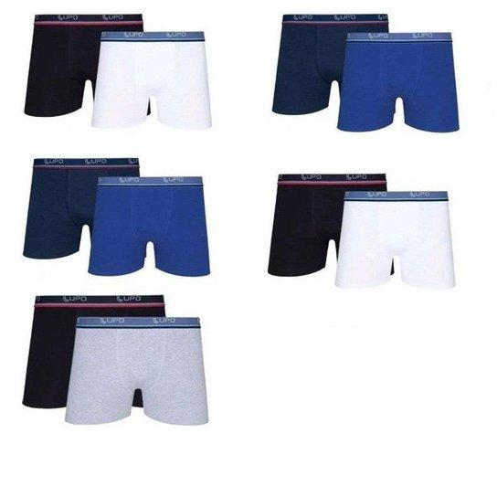 5a48ddc9e Cuecas Boxer LUPO kit com 10 Cuecas Algodão - Preto e Branco | Netshoes