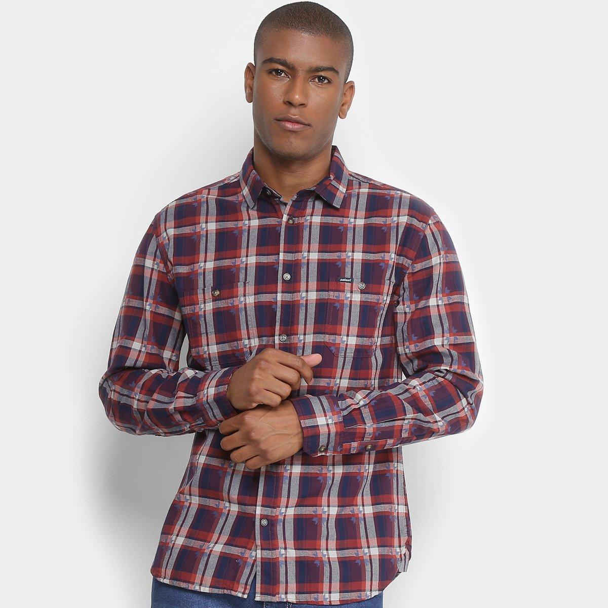 Camisa Xadrez Colcci Slim Manga Longa Masculina. undefined de40f87cef9