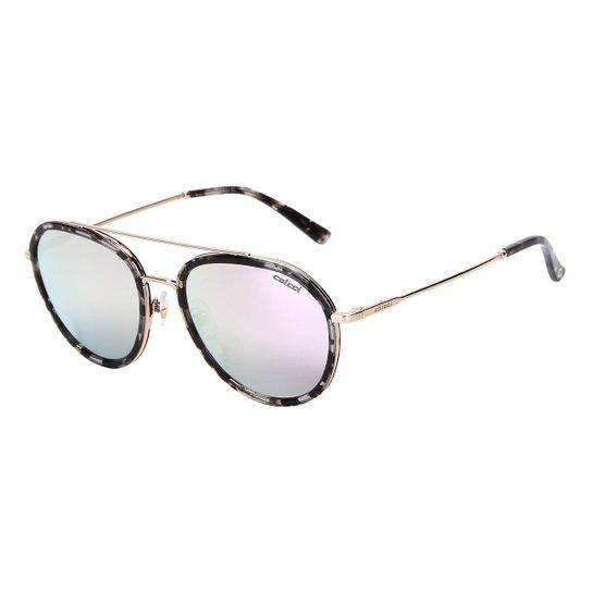 a16a8b0d9 Óculos de Sol Colcci Espelhado C0090 Feminino - Preto e Branco ...