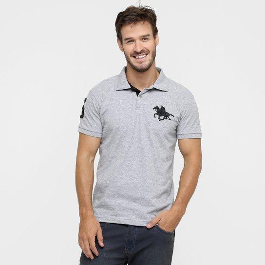 Camisa Polo RG 518 Piquet Básica Masculina - Cinza - Compre Agora ... 41b738be0ee95
