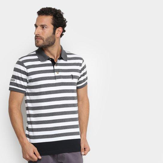 5ab1615a88 Camisa Polo Aleatory Masculina - Cinza e Branco - Compre Agora ...