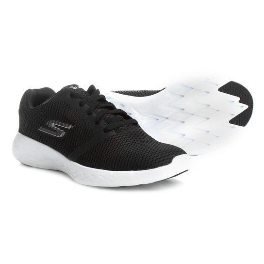 Tênis Skechers Go Run 600 Refine Feminino - Preto e Branco - Compre ... 101e8634fc72f