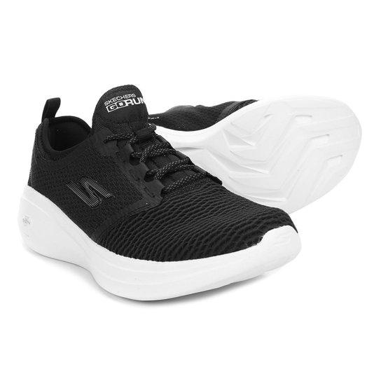 10401eae165 Tênis Skechers Go Run Fast Feminino - Preto e Branco - Compre Agora ...