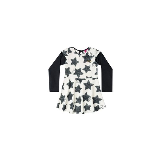 f0672ed20 Vestido Manga Longa Bebê Hello Kitty - Compre Agora