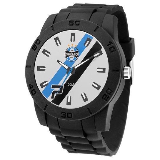 Relógio Grêmio Technos Masculino Analogico 10 ATM Masculino - Preto+Branco db11c165e1