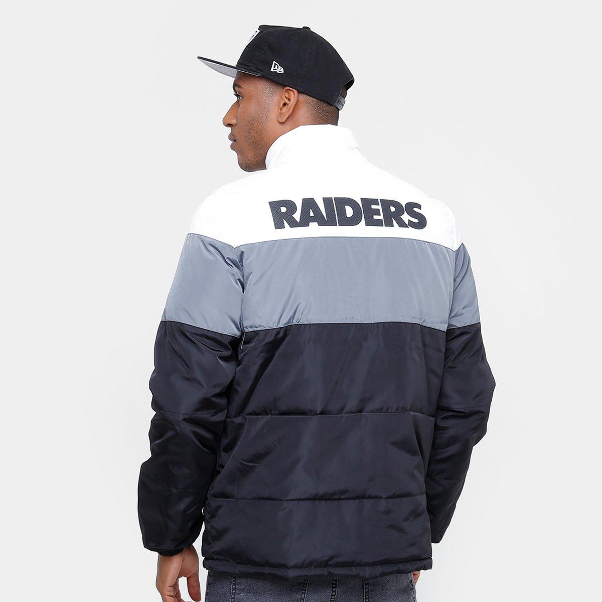 ... Foto 2 - Jaqueta NFL Oakland Raiders New Era Dupla Face Masculina d757ad1dc01