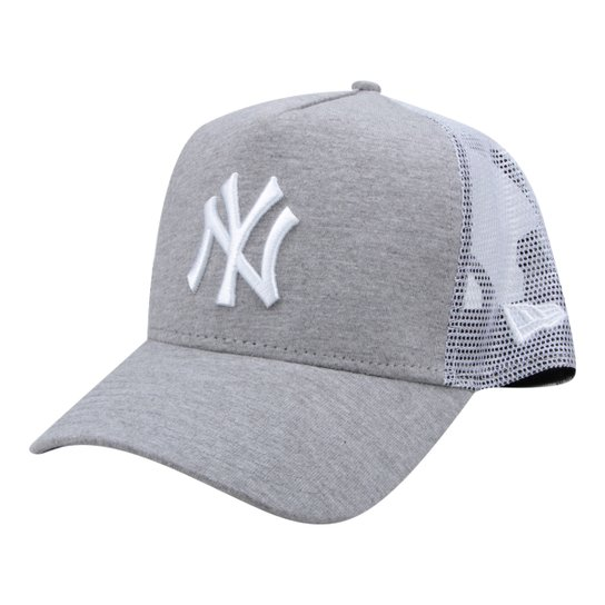 4f70f59db Boné New Era MLB New York Yankees Aba Curva 940 Af Sn Lic2071 Fa - Cinza