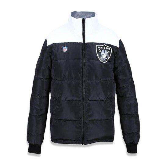 811af4fd27 Jaqueta Dupla Face Oakland Raiders NFL New Era Masculina - Preto+Branco