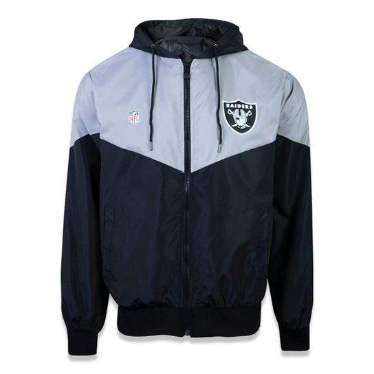 Jaqueta Especial Oakland Raiders NFL New Era Masculina - Preto+Branco c3154ab5c13