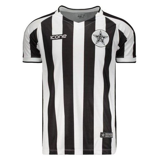 Camisa Ícone Sports Resende II 2018 Masculina - Preto e Branco ... 93aea9367511b