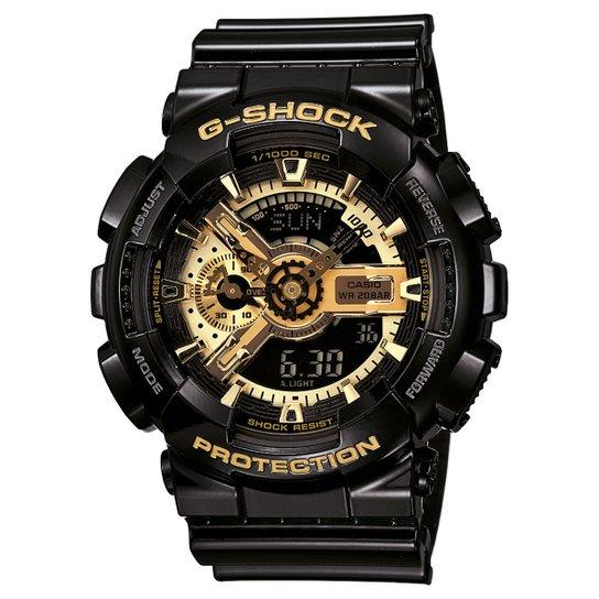 18d748c762b Relógio G-Shock GA-110 - Preto e Dourado - Compre Agora