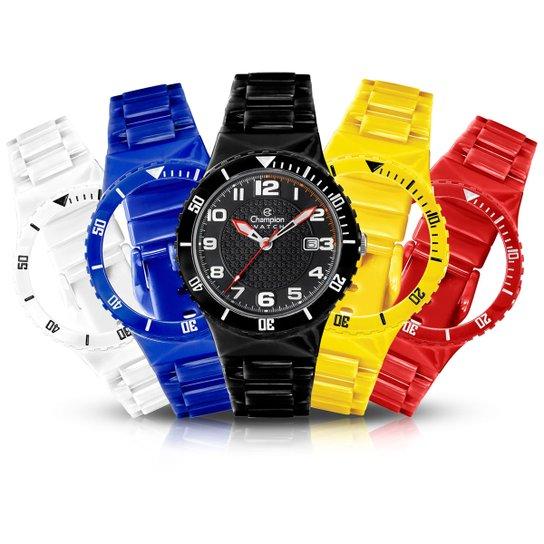 63b5e6fd5 Relógio Champion troca pulseiras - Preto+Branco