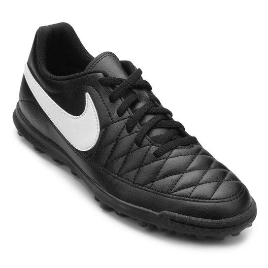 9133a24d79 Chuteira Society Nike Majestry TF - Preto e Branco