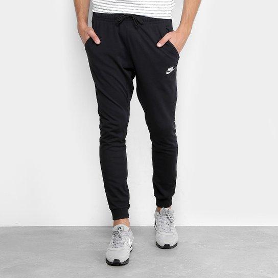 3d7f0fd161599 Calça Jogger Nike Club Masculina - Preto e Branco - Compre Agora ...