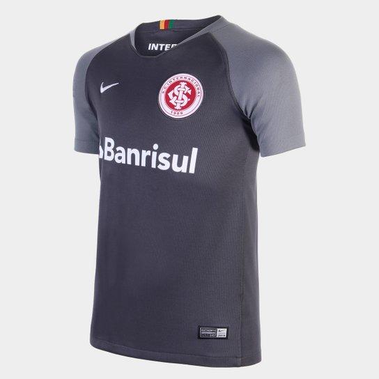 378a69d6c3 Camisa Infantil Internacional III 2018 s n° - Torcedor Nike - Cinza+Branco