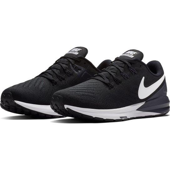 af5bdf454 Tênis Nike Air Zoom Structure 22 Feminino - Preto e Branco - Compre ...