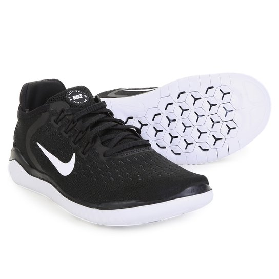 Tênis Nike Free Rn 2018 Feminino - Preto e Branco - Compre Agora ... 506628adbee65