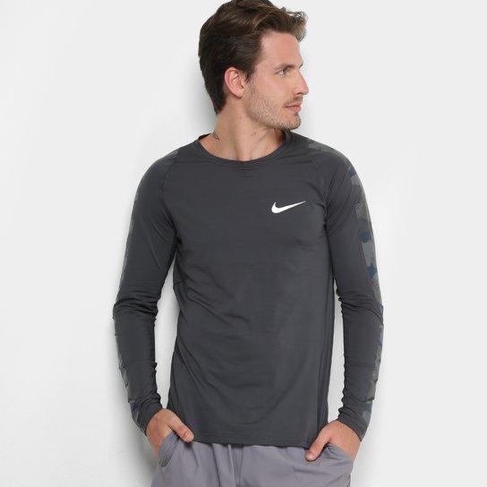 f4551cc9cf Camiseta Manga Longa Nike Ls 2L Camo Masculina - Compre Agora