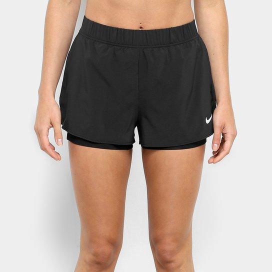 de08fd8f66e37 Short Nike Flex Feminino - Preto e Branco - Compre Agora