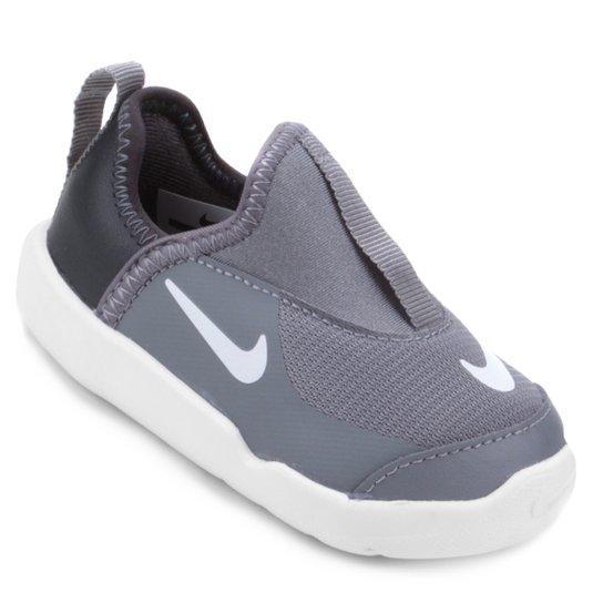 9100245c78d Tênis Infantil Nike Lil  Swoosh Masculino - Cinza e Branco - Compre ...