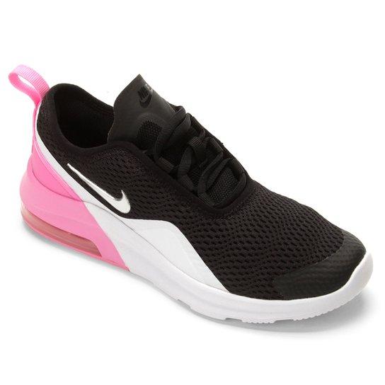 ad6ed6e1d2 Tênis Infantil Nike Air Max Motion Feminino - Preto e Branco ...