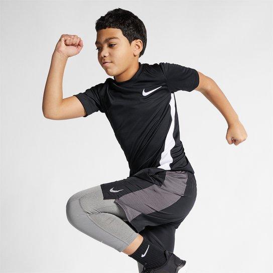 4250a8bbd0d Camiseta Infantil Nike B Dry Top Ss Trophy Masculina - Preto+Branco