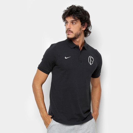 e9265b4934 Camisa Polo Corinthians Nike Masculina - Preto e Branco