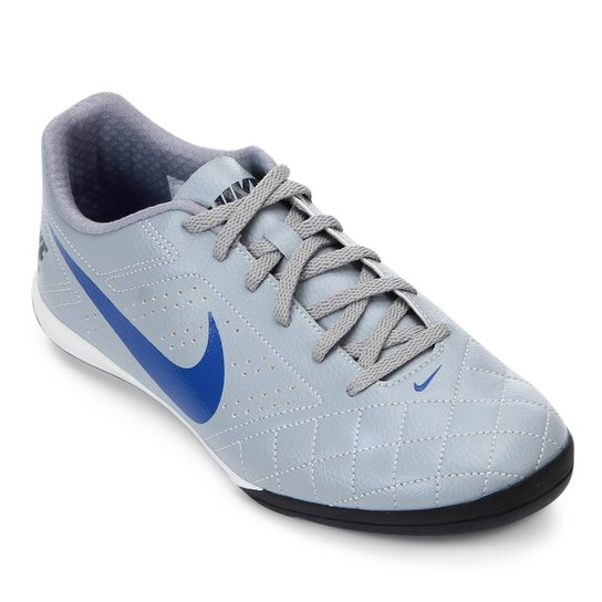 2d54568c3aff8 Chuteira Futsal Nike Beco 2 - Cinza e Branco | Netshoes