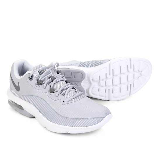best website 5d7e1 8a21c Tênis Nike Air Max Advantage 2 Feminino - Cinza e Branco | Netshoes
