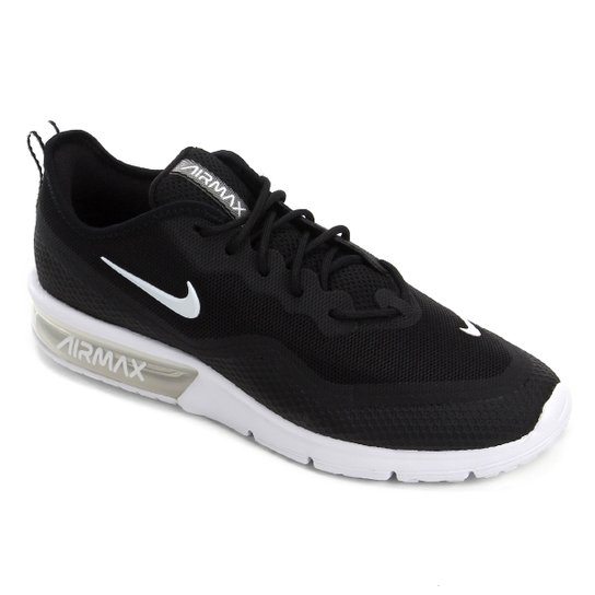 144d89aaf68 Tênis Nike Air Max Sequent 4.5 Masculino - Preto e Branco - Compre ...