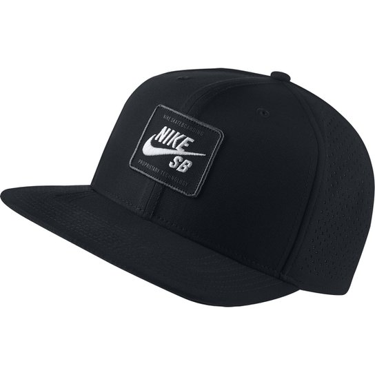 5a06e196f0380 Boné Nike Arobill Pro Cap 2.0 Aba Reta - Preto e Branco - Compre ...